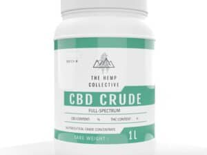 CBD Crude 1 Liter container full spectrum hemp extract