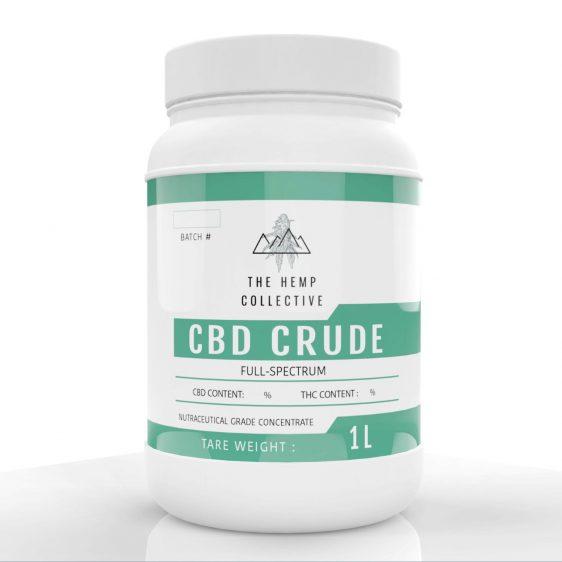 CBD Crude 1 Liter container full spectrum hemp extract