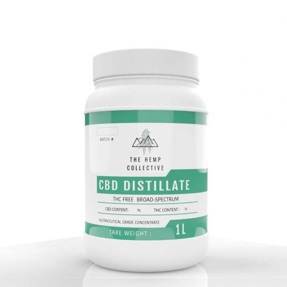 CBD Distillate THC Free in 1 Liter containers