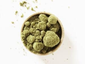 CBD Kief from the plants trichomes harvested from the hemp plant material
