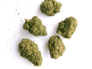 delta 8 thc moonrocks cbg kief and delta 8 distillate sprayed with terpenes